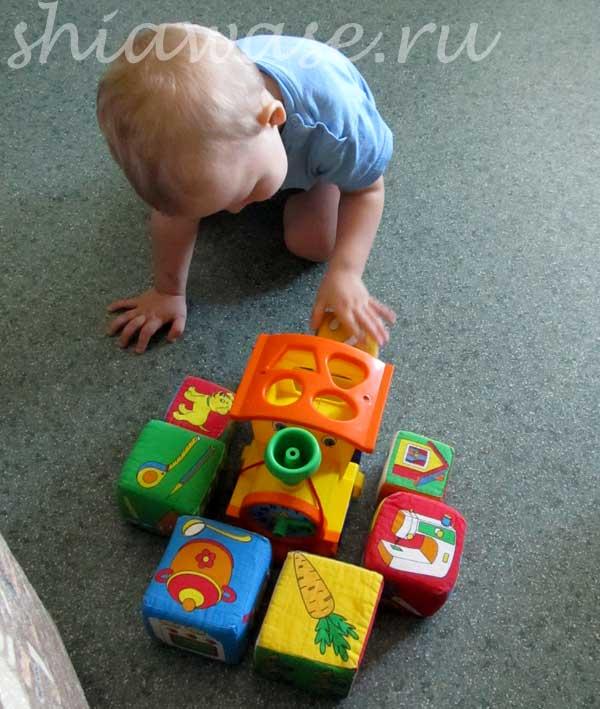строим гараж из кубиков