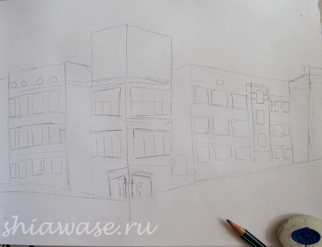 здание-банка_набросок