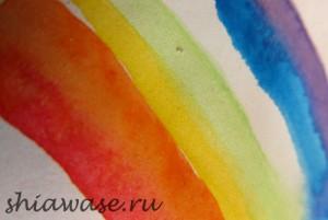 рисуем перо акварелью