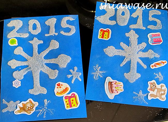 открытка-к-новому-году-рисуем-манкой