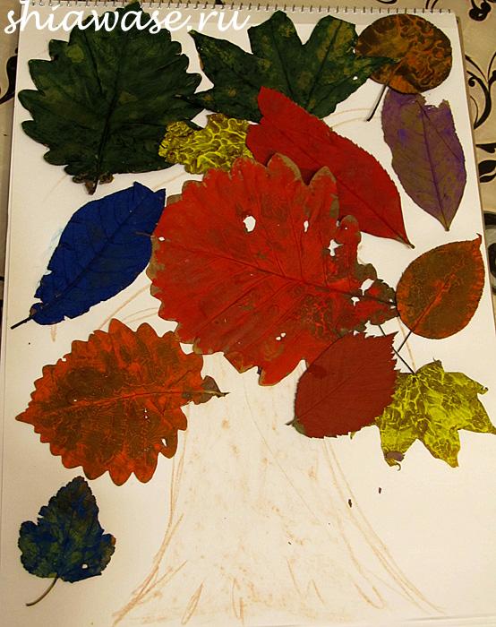 рисуем-листьями