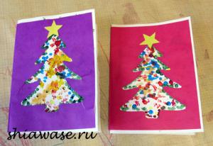 рисуем-новогодние-открытки-с-детьми