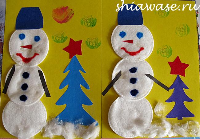 сделать-снеговика-с-малышом