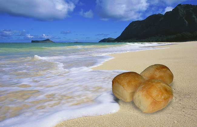пляж-булочка