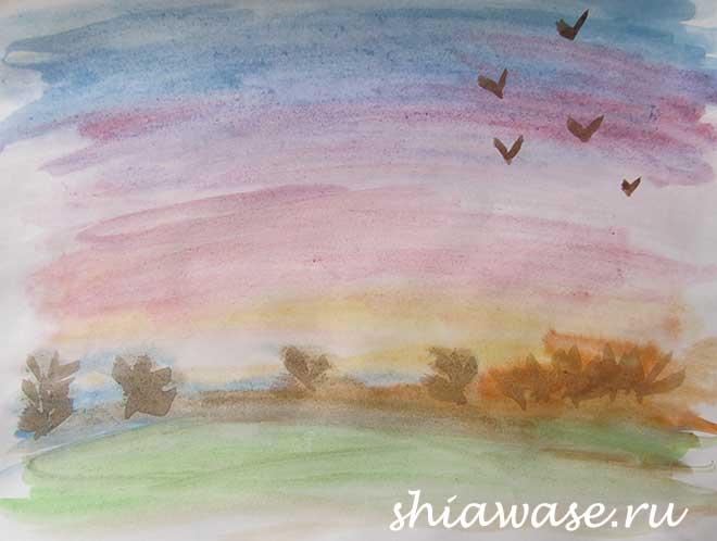 акварель-пейзаж-учусь-рисовать