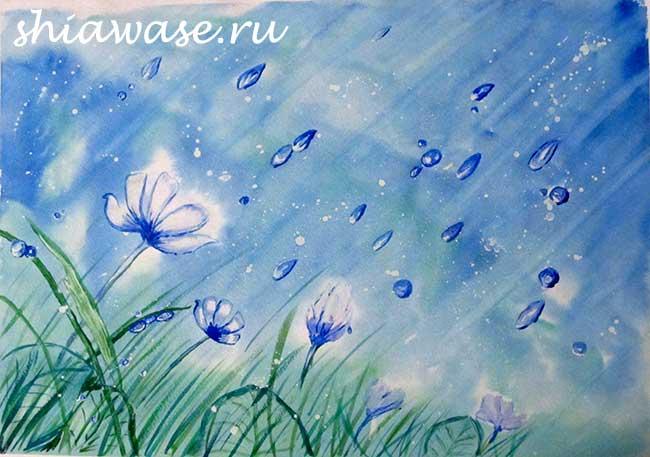 цветы-в-дождь